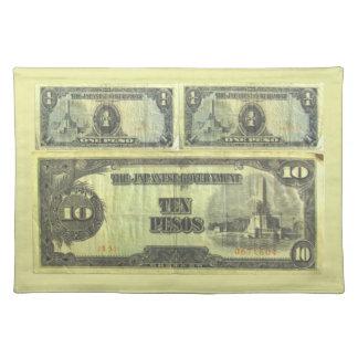 ~ Placemat del dinero de la invasión Manteles