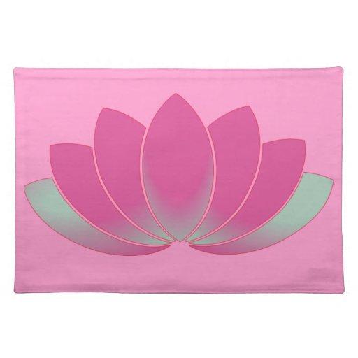 Placemat del flor de Lotus Mantel