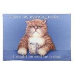 Placemat del gato del café mantel individual
