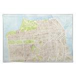 Placemat del mapa de la acuarela de San Francisco  Manteles Individuales