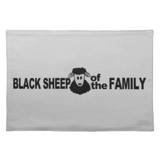 Placemat del personalizado de las ovejas negras manteles individuales