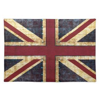 Placemat del Union Jack del Grunge Mantel Individual