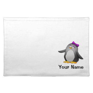 Placemat, dibujo animado lindo del pingüino, plant manteles individuales