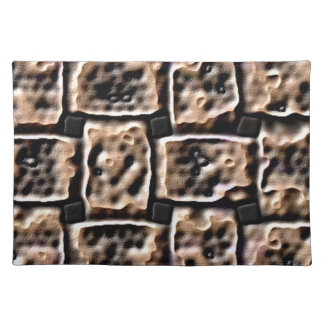 PLACEMAT - DIGITAL ABSTRACT - HOT COALS EFFECT CLOTH PLACEMAT