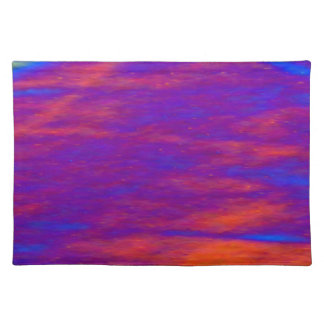PLACEMAT - DIGITAL ABSTRACT - MISTY PINKS AND BLUE CLOTH PLACE MAT