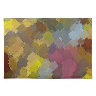 PLACEMAT - DIGITAL ABSTRACT - PATCHWORK EFFECT CLOTH PLACEMAT