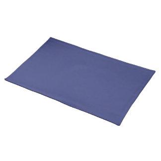Placemat en color azul del satén mantel individual