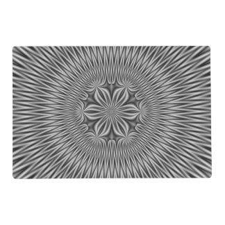 Placemat   Floral Motif in Monochrome Laminated Place Mat