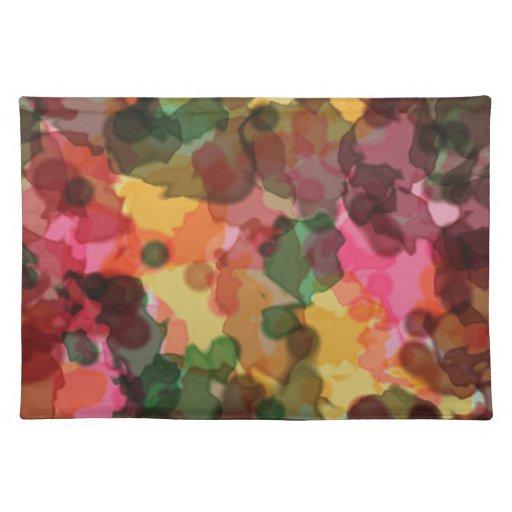 Placemat, flores de la primavera, extracto de la a mantel