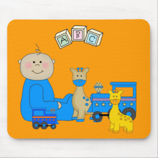 Placemat For Baby Boys, Baby And Toys 3 Mouse Pad