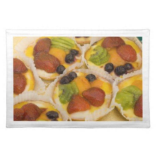 Placemat, fruit pastries # 2 cloth placemat