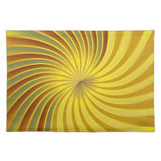 Placemat gold spiral vortex cloth placemat