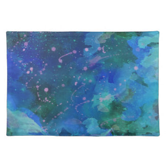 Placemat--Graffiti in Blue