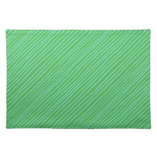 Placemat- Grass Diagonal Stripe! Cloth Placemat