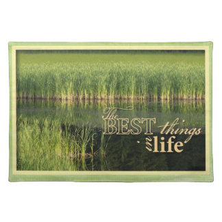 Placemat Grasses in Lake Greens and yellow