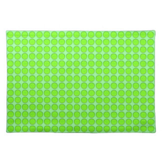 Placemat - Green Dots on Green Background Cloth Place Mat