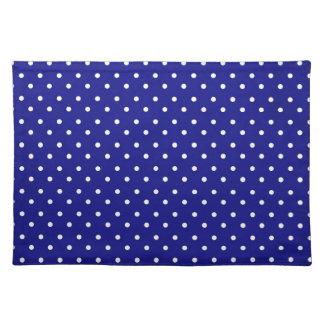 Placemat Hot Blue Polka Dot