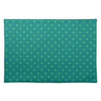 Placemat Hot Green Polka Dot Cloth Place Mat