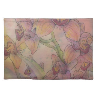 Placemat in Pastel Orchids