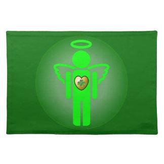 Placemat irlandés del ángel manteles individuales