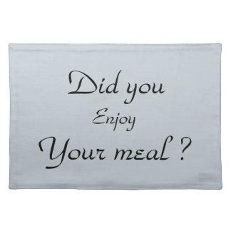 "Placemat Juego de manteles individuales ""Good meal"