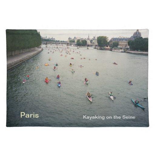 Placemat/Kayaking en París Mantel