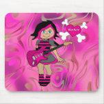 Placemat Kids Girl Rocker Girl Mousepads
