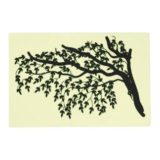 Placemat laminado - árbol que llora salvamanteles