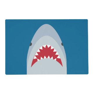 Placemat laminado tiburón tapete individual