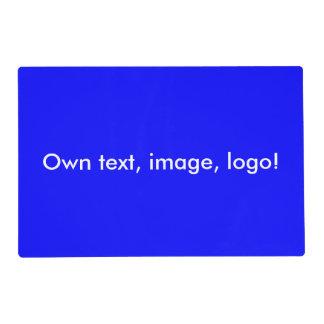 Placemat laminó el azul uni real tapete individual