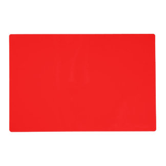 Placemat laminó uni rojo salvamanteles