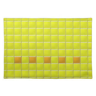 Placemat - Mosaic Squares in Yellow Cloth Place Mat
