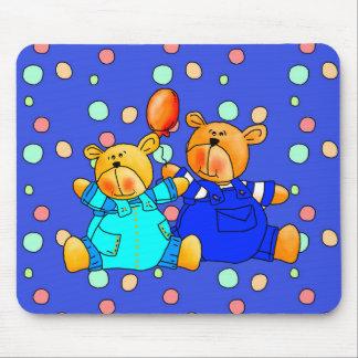 Placemat Mousepad embroma los osos azules 2 del gl Tapete De Ratón