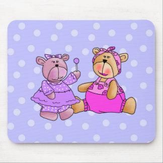 Placemat Mousepad Kids Lollipop Purple Pink Bears
