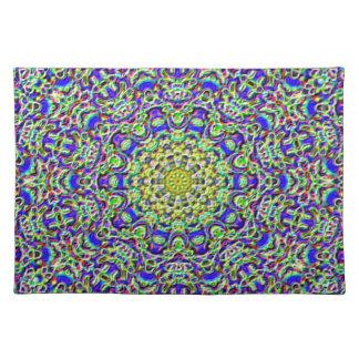 Placemat - multi-coloured mosaic-kaleidoscope