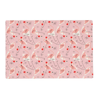 Placemat multi rosado de Santas del flamenco Salvamanteles