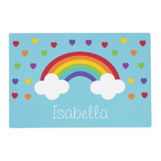 Placemat personalizado arco iris tapete individual