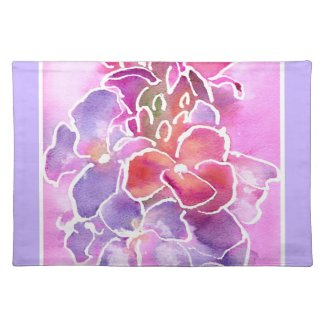 Placemat, Pink, Mauve, Blue Wallflowers