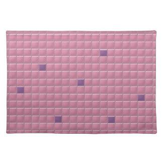 Placemat - Pink Square Mosaic Cloth Place Mat