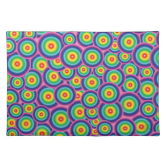 Placemat Psychedelic rainbow bubbles