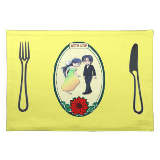 Placemat - Rainbow bride and groom