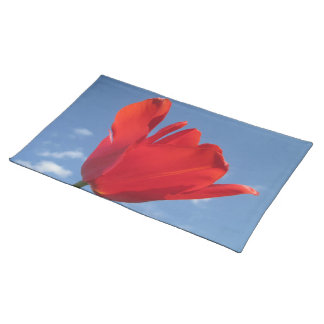 Placemat - Red Tulip Blue Sky