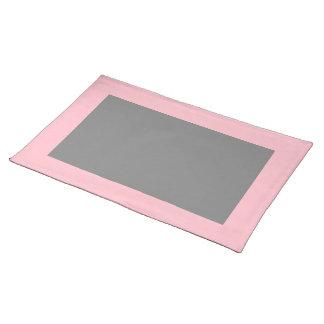 Placemat rosado y gris manteles