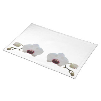 Placemat - Ruby-Lipped White Orchid