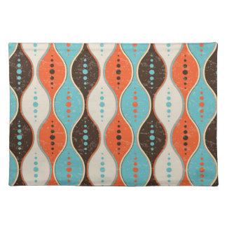 Placemat Seamless retro pattern grunge