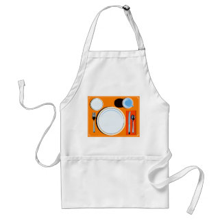 Placemat setting apron