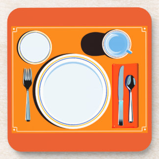 Placemat setting coaster