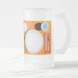 Placemat setting mug