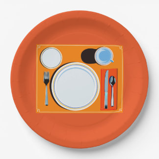 Placemat setting paper plate
