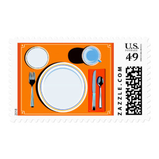Placemat setting stamp